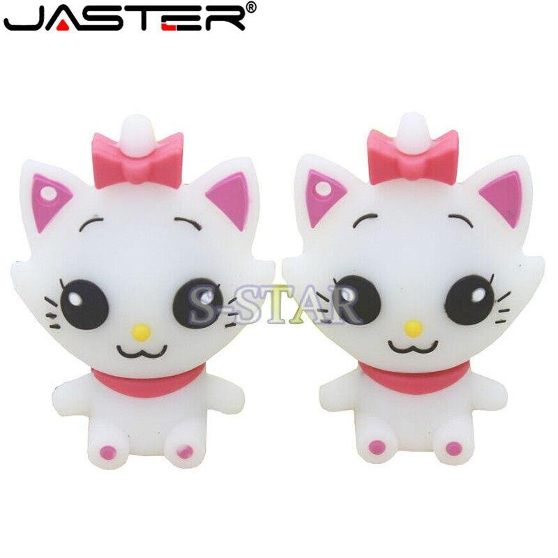 JASTER 5 Colour 64GB Cute Cat USB Flash Drive 4GB 8GB 16GB 32GB Pendrive USB 2.0 Usb Stick