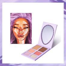 6 Colors/SET Professional Women Dragun Beauty Eye Shadow Makeup Cosmetic Powder Waterproof Long Lasting Smoky Eyeshadow Palette