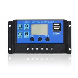 Image 2 - Dokio 12/24v 10A/20A/30A PWM Solar Controller For Solar Panel LCD Display Solar Regulator With USB Socket