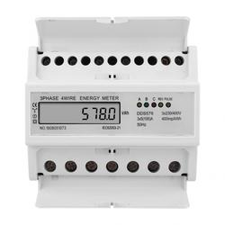 DDS578 3 Phase 4 Wire 7P 380V Energy Meter LCD Display Watt Hour Meter ElectricType Power Meter