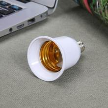 1pc Fireproof Plastic E14 to E27 Socket Adapter Conversion Lamp Holder Light Bulb Adapter Converter Socket Led Light Base Light(China)