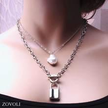 Модные многослойные ожерелья zovoli для женщин и мужчин раздельные
