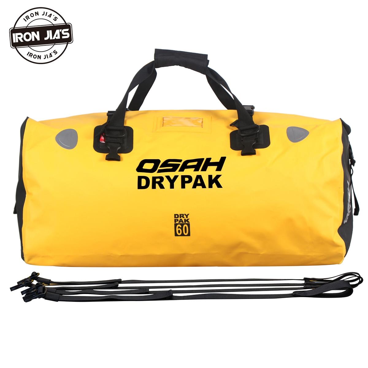 OSAH DRYPAK Motorcycle Waterproof Tail Bags Multi-functional Durable Rear Motorcycle Seat Bag High Capacity Waterproof PVC Bag