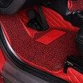 Двухслойный автомобильный напольный коврик с кожаным проводом  передние ковры для Smart fortwo 2009 2010 2011 2012 2013 2014  аксессуары для стайлинга интерь...