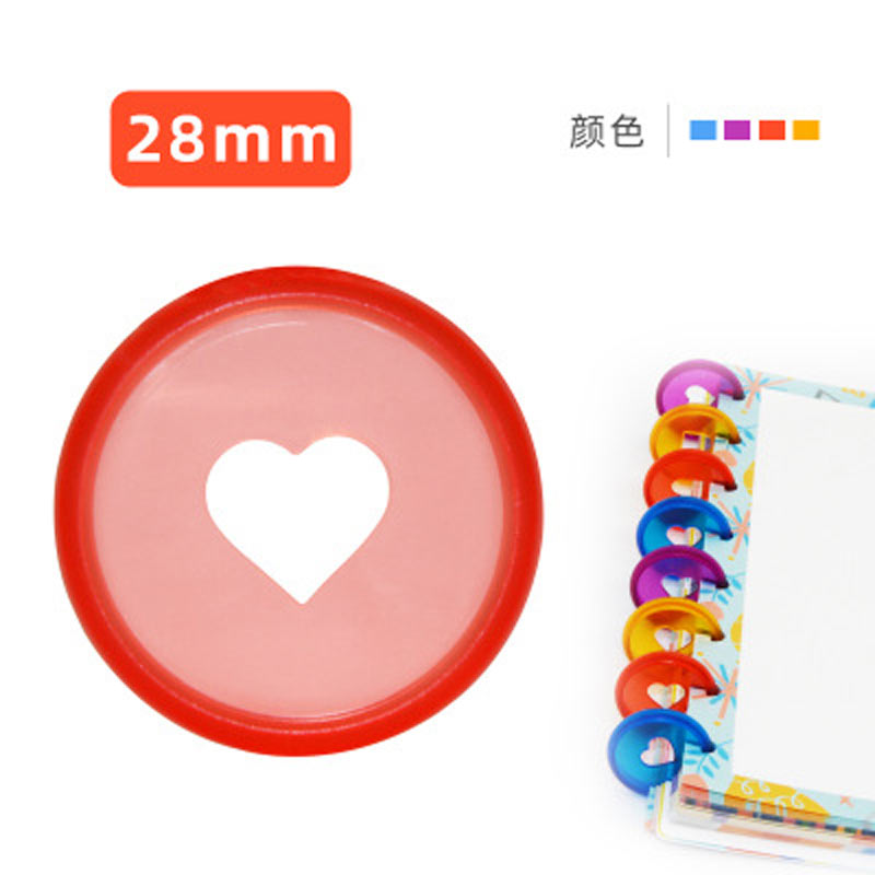 yiwi 100pc multicolorido caderno cogumelo buraco botao bloco de notas plastico solto folha bobina 360 graus