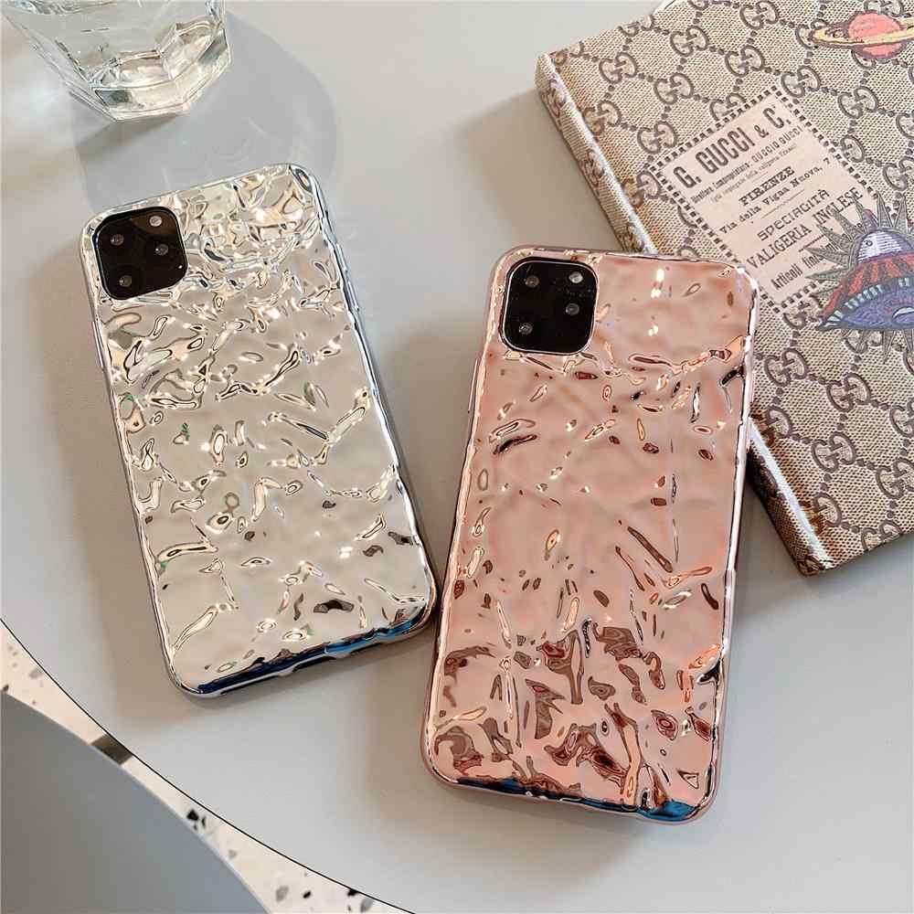 3D Plating Silver Gold Foil Tin foil Phone Case For iphone XS Max XR X Case  For iphone 11 Pro Max 8 7 6s 6 plus Back Cases