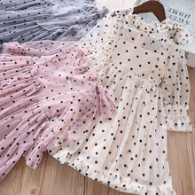 Girls Dress Summer Polka Dot Elegent Princess Dress Kids Dresses For Girls Lace Birthday Party Ball Gown Children Clothing 2020 2019 lace embroidery dress kids dresses for girl princess autumn winter party ball gown children clothing wear dress for girls