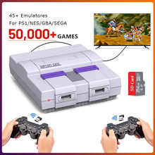 Console de jeu vidéo TV classique pour jeux PS1/NES/GBA/SEGA 50000 + Console de jeu rétro Raspberry Pi avec deux contrôleurs sans fil