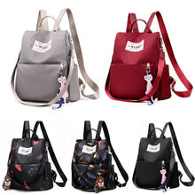 PUDCOCO Stylish Girls School Backpack Rucksack Waterproof Anti-theft Casual Travel Shoulder Bag(Pendant Doesn't Include(China)