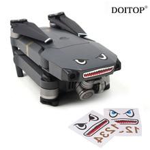 DOITOP Drone наклейка s 2 комплекта камера Drone тело Кожа крутой Акула лицо 3M наклейки с батареей номер Наклейка для DJI MAVIC PRO/Spark