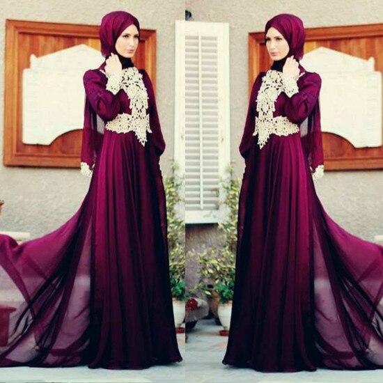 Vestido Formal Longo 2018 Grace Lace Appliques Dubai Long Sleeve Evening Gown Elegant Robe De Soiree Mother Of The Bride Dresses