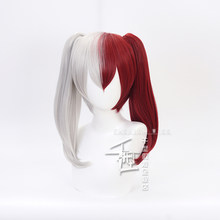 My Hero Academia Todoroki Shoto Women Ponytails Wig Cosplay Costume Boku No Hero Academia Hiro Akademia Synthetic Hair Wigs