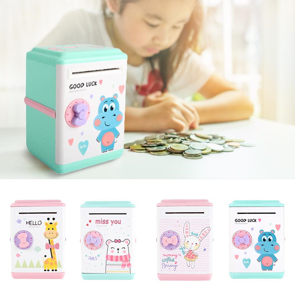 Innovative ATM Piggy Bank Intelligent Automatic Opening Password Vouchers New Exotic Children's Gift Toys Fun Souptoys ##