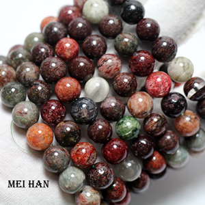 Image 3 - Meihan wholesale (2 bracelets/set/38 beads) 10 10.8mm natural Brazil phantom crystal smooth round loose beads for jewelry making