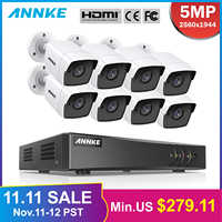 ANNKE 8CH 5MP Ultra HD CCTV Kamera System 5IN1 H.265 + DVR Mit 8PCS 5MP TVI Wetter Weißen Sicherheit surveillance System Kit
