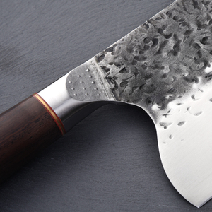 Image 3 - Нож мясника из нержавеющей стали 5CR15MOV, китайский кухонный нож, поварские инструменты с деревянной ручкой