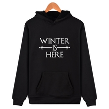 Winter is here Hoodies for Men Funny Sweatshirts Mens Fashion Crew Neck Tops Camisetas