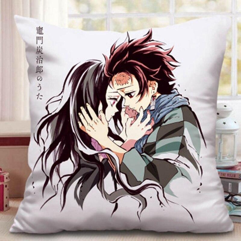 Demon Slayer Kimetsu No Yaiba Anime Pillow Cushion Case Cover For Sofa Home Car