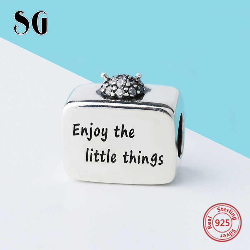 SG אופנה 925 סטרלינג כסף טלוויזיה קסמי חרוזים אביזרי עבור פנדורה צמידי תכשיטי ביצוע diy חג המולד