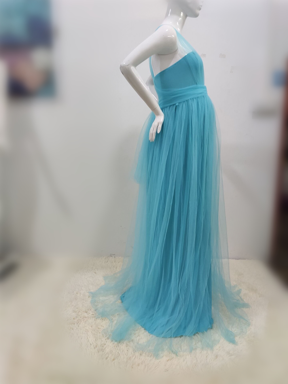 Tulle Sexy Maternity Dresses Photography Props Long Fancy Pregnancy Dress Mesh Pregnant Women Maxi Gown Clothes For Photo Shoots (16)