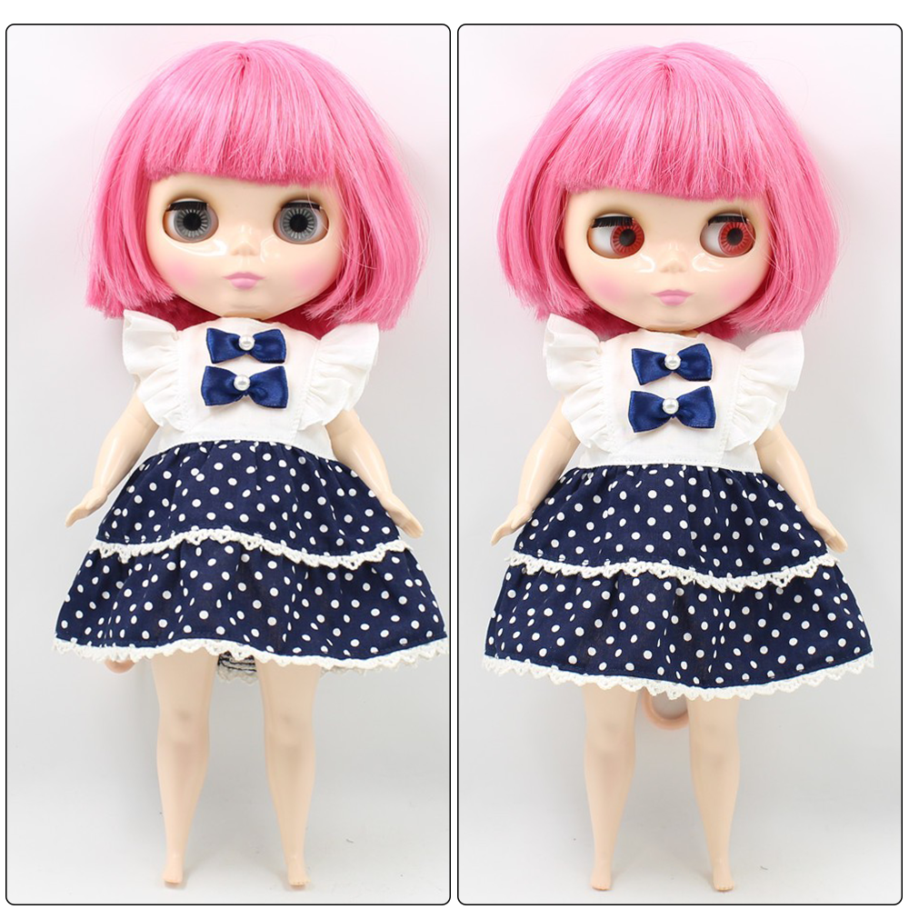 Neo Blythe Plump Doll with Pink Hair, White Skin, Shiny Face & Fat Body 1