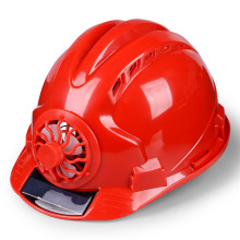 Outdoor Working Safety Hard Hat Solar Power Fan Helmet Construction Workplace ABS material Protective Cap Powered by Solar Panel