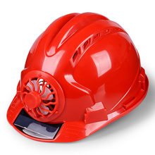 Outdoor Working Safety Hard Hat Solar Power Fan Helmet Construction Workplace ABS material Protective Cap Powered by Solar Panel(China)
