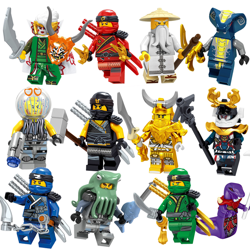2019 Ninja Kai Cole Jay Zane Lloyd Building Blocks Fit Legoingly Ninjagoed Mini 1pcs Action Figures Bricks Toys Kids Xmas Gifts