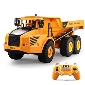 40CM Big size 2.4G RC Dump Truck Remote Control Dumper Construction Engineering Vehicle Tilting Cart Kids RC Model Toy