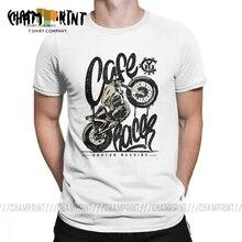Felicidad Cafe Racer Vintage Moto hombres camiseta Casual de algodón de manga corta Tees personalizado motocicleta Crewneck camiseta de talla grande Tops