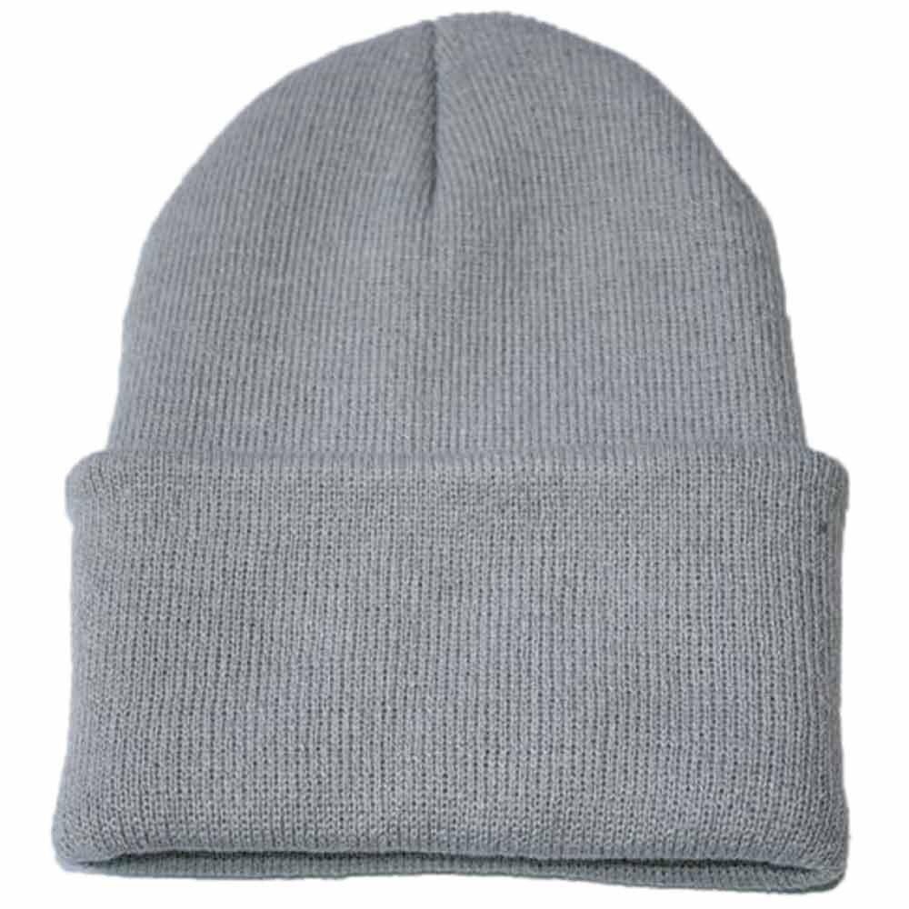 Осенне-зимняя одежда из шерсти смеси мягкий теплый вязаный Кепки Повседневное Chapeau унисекс сапоги высотой выше колена Вязание шапка в стиле хип-хоп кепка, теплая зимняя Лыжная шапка# Y5 - Цвет: Серый