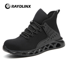 RAYDLINX Work Steel Toe Shoes Safety Shoes for Men and Women Lightweight Industrial & Construction Safety Shoes