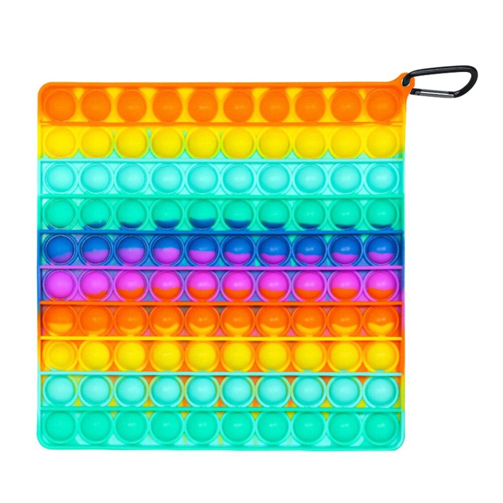 Квадратные нажимные пузырьки сенсорные игрушки забавные мягкие многоразовые антистресс раннее образование головоломка сжимаемые игрушки...