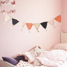 ABSS-Pennant Banner Hanging Pendant Kids Room Nursery Decoration Photography Props Wedding Party Dec