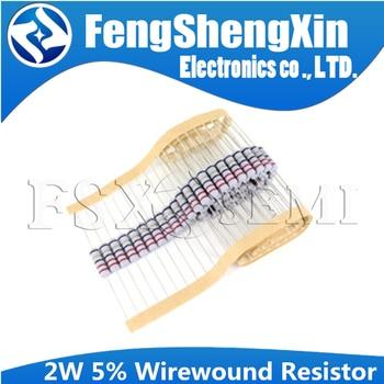 20pcs 2W 5% Wirewound Resistor Fuse 0.05R 0.1R 0.15R 1R 2.2R 4.7R 5.1R 10R 20R 22R 47R 51R 100R - sale item Passive Components