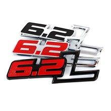 ABS Auto Aufkleber Emblem Stamm Abzeichen Decals für Ford Raptor F150 6,2 L Chevrolet Corvette C7 Camaro 2011 2015 6,2 L Auto Styling