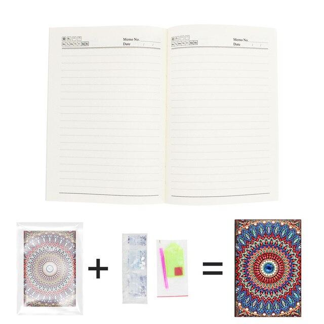 DIY Full Diamond Rhinestones Painting Diary Notebook Diamond Painting Special Shaped Drill Decor Gift