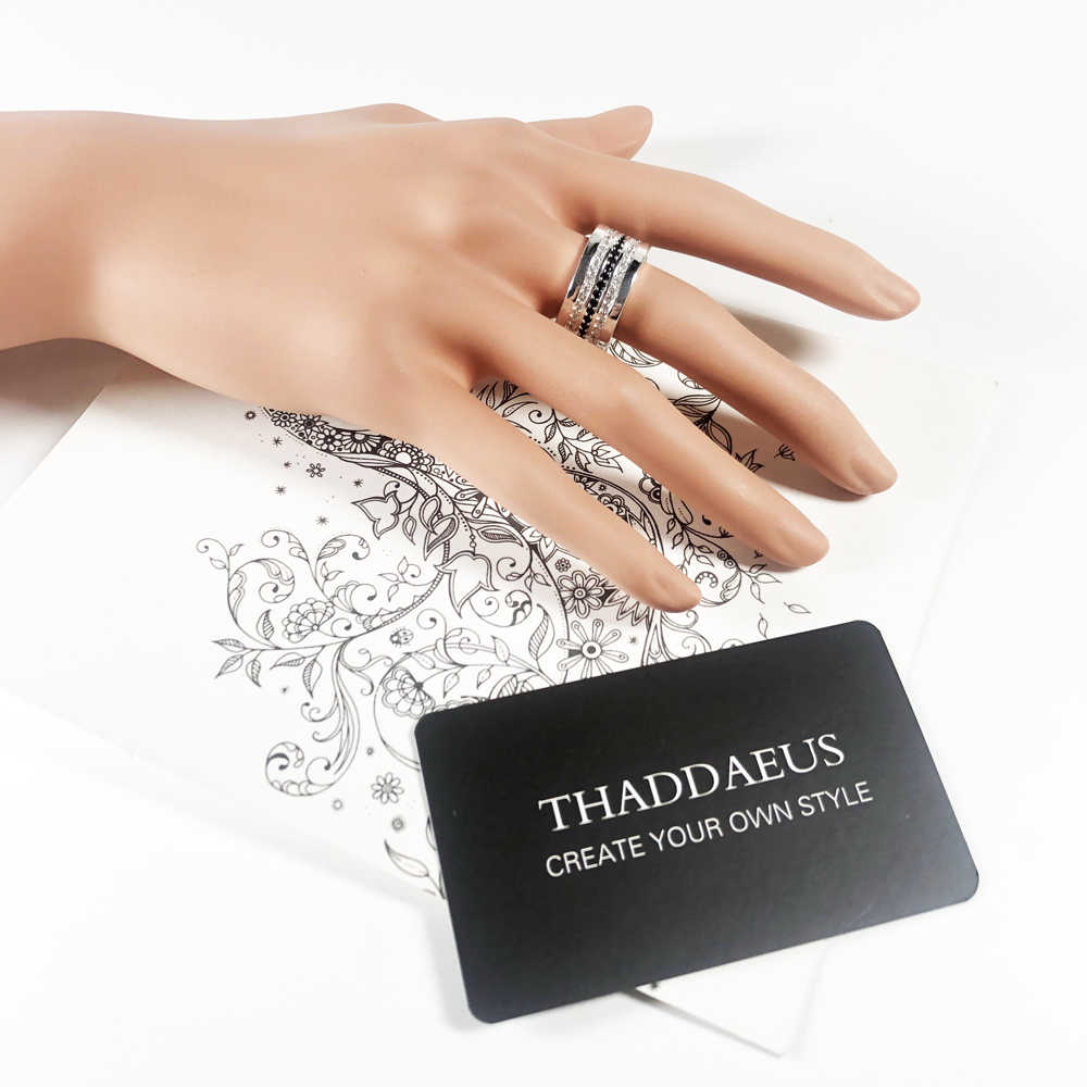 Entenity Ring Black & White Pave, Thomas Style Glam Fashion Goede Jewerly Voor Vrouwen, 2017 Ts Gift In 925 Sterling Zilver, Super Deal