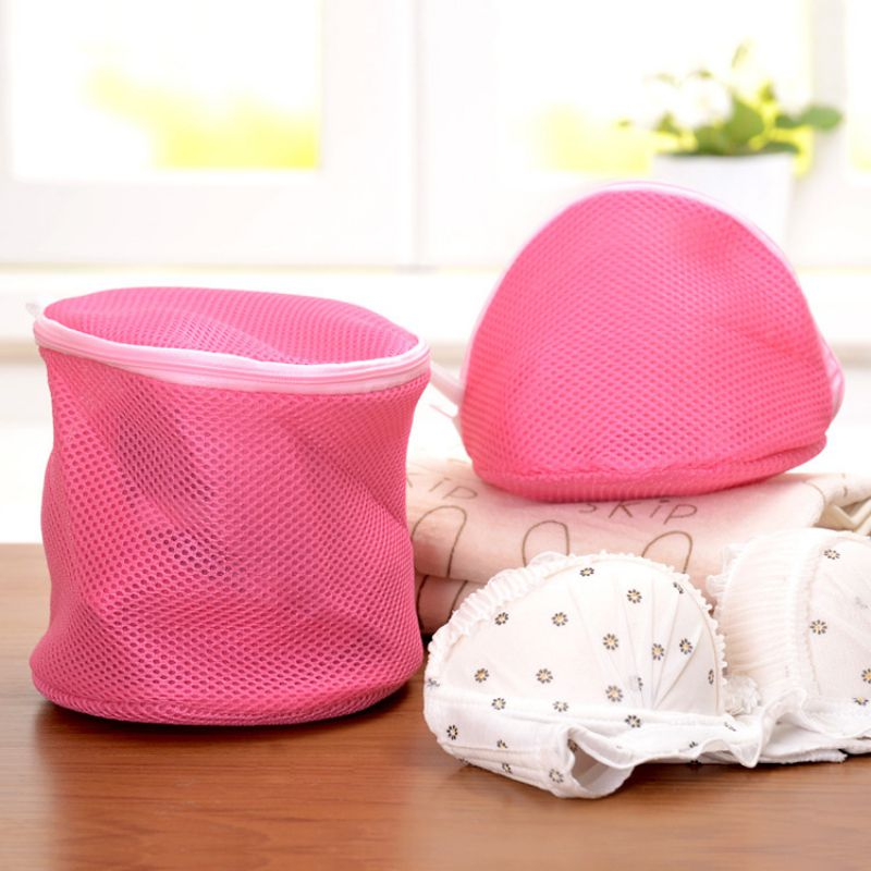 Polyester Zipper Laundry Bag Clothes Wash Bag Bra Socks Underwear Bag Laundry Container Multisize Home Storage Machine Protector