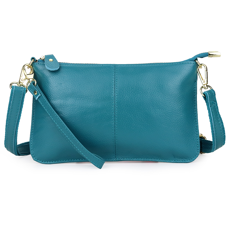 Light Blue Small Shoulder Crossbody Handbag New Fashion Genuine Leather Women's Messenger Doulder Straps Purses And Handbags