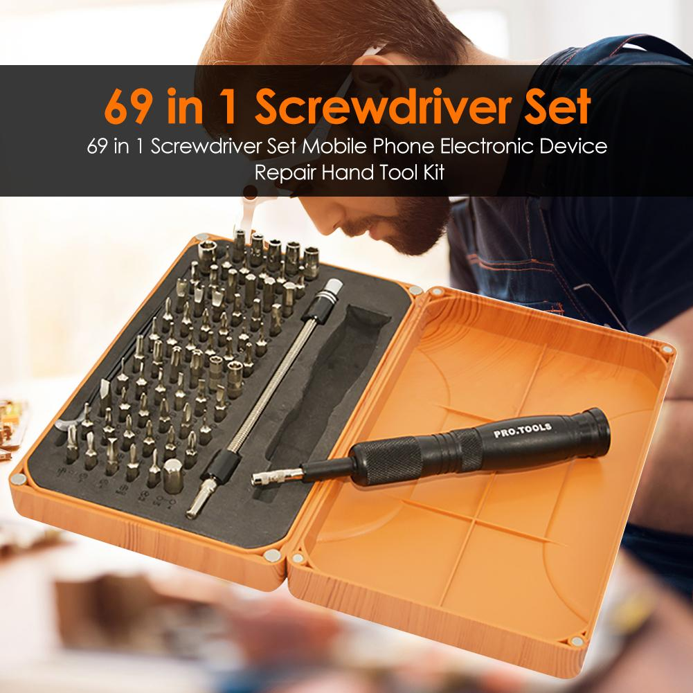 69 in 1 Screwdriver Set Mobile Cell Phone Maintenance Disassembly Hand Tools Kit More Labor-Saving Reliable and Durable