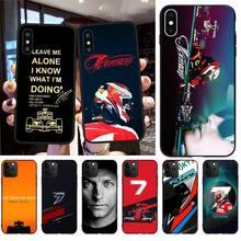 PENGHUWAN Kimi Raikkonen F1 F1 Just Leave Me Alone Bling Cute Phone Case