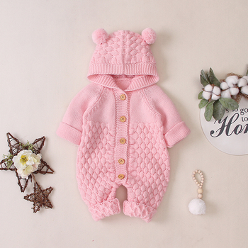 LZH 2020 Autumn Infant Hooded Knitting Jacket For Baby Clothes Newborn Coat For Baby Boys Girl Jacket Winter Kids Outerwear Coat 12