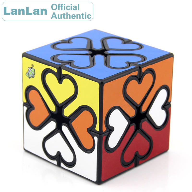 LanLan Inner Gear Heart Magic Cube Cubo Magico Professional Neo Speed Puzzle Antistress Educational Toys For Children