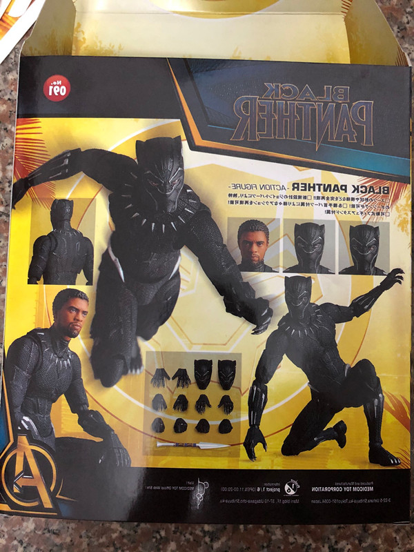 Infinity War 16cm MAF091 PVC Action Figure New In Box Black Panther Avengers