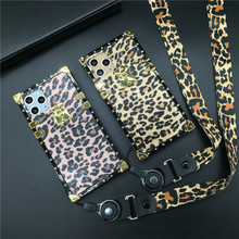 Luxury Leopard Square Case for Huawei