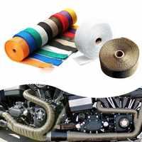 5M Auto Motorrad Auspuff Wrap Rohr Header Wärme Wrap Turbo Mainfold Wärme Auspuff Thermische Wrap Band Edelstahl Krawatten