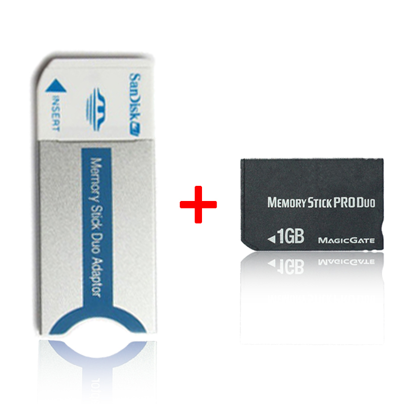 Original!!! 2GB1GB 512M 256M  Memory Stick Pro Duo Memory Cards With Memory Stick Pro Duo Adapter