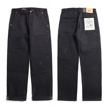 Red Tornado Black Officer Pants Men's Selvedge Denim Jeans Chino Relaxed Fit