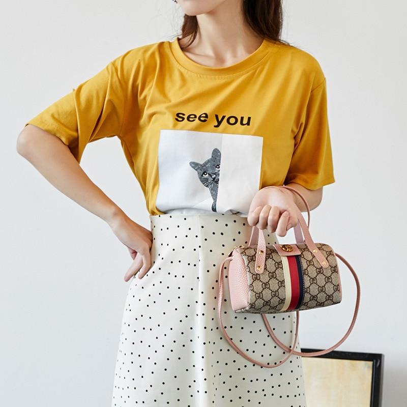 WOMEN'S Bag Hand-Shoulder-Bag Lettered Printed Versitile Pillow Mobile-Phone-Bag Fashion